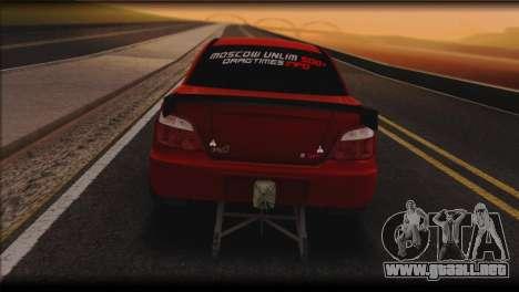Subaru Impreza STi Drag Racing Unlim 500 para GTA San Andreas vista posterior izquierda
