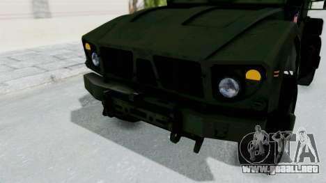 Croatian Oshkosh M-ATV Woodland para vista inferior GTA San Andreas
