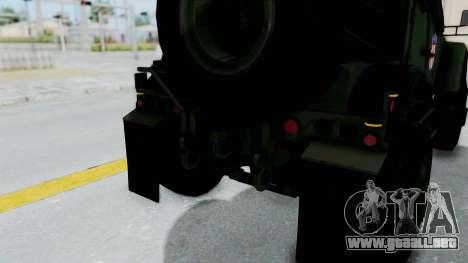 Croatian Oshkosh M-ATV Woodland para el motor de GTA San Andreas