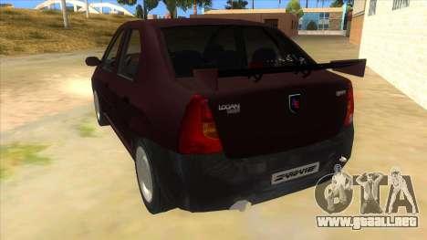 Dacia Logan Sport para GTA San Andreas vista posterior izquierda