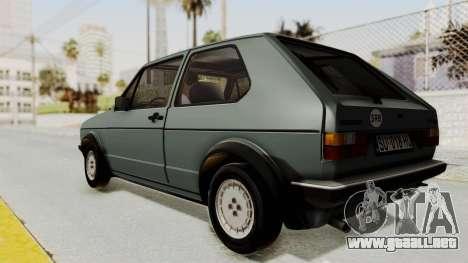 Volkswagen Golf Mk1 GTI para GTA San Andreas left