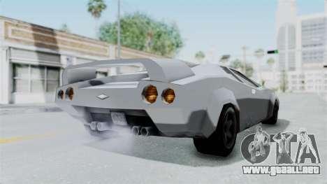 GTA Vice City - Infernus para GTA San Andreas vista posterior izquierda