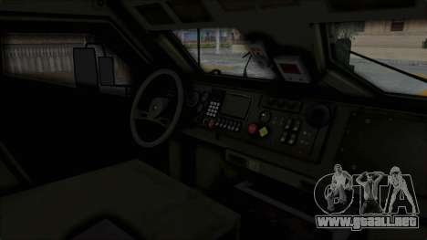 Croatian Oshkosh M-ATV Woodland para vista lateral GTA San Andreas