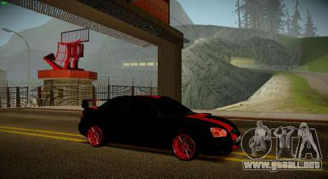 Subaru Impreza WRX STi Bestia Negra para GTA San Andreas vista posterior izquierda