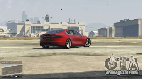 GTA 5 Tesla Model S vista trasera