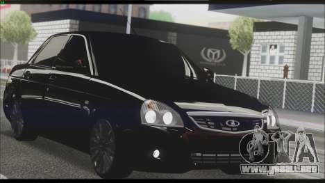 Lada Priora Sedan para vista lateral GTA San Andreas
