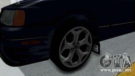 Ford Sierra Turnier 4x4 Saphirre Cosworth para GTA San Andreas vista hacia atrás