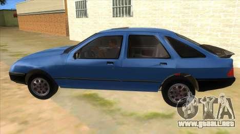 Ford Sierra 1.6 GL Updated para GTA San Andreas left