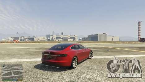GTA 5 Tesla Model S vista lateral trasera derecha