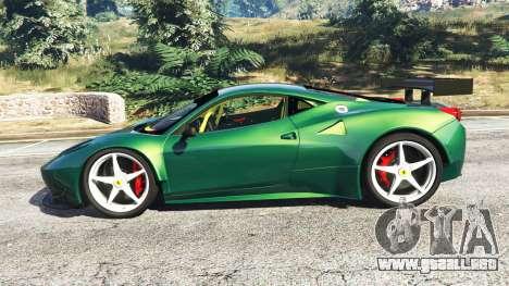 GTA 5 Ferrari 458 Italia GT2 vista lateral izquierda