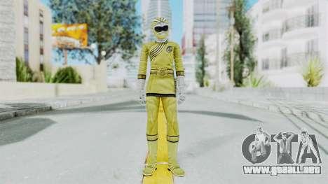 Power Rangers Wild Force - Yellow para GTA San Andreas segunda pantalla