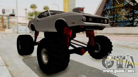 Ford Mustang 1971 Monster Truck para la visión correcta GTA San Andreas