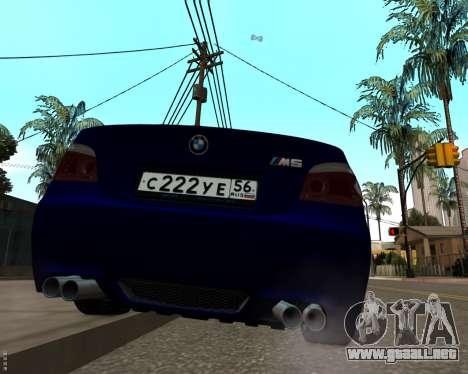 BMW M5 E60 v1.0 para la visión correcta GTA San Andreas