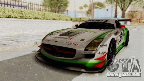 Mercedes-Benz SLS AMG GT3 PJ4 para GTA San Andreas vista hacia atrás