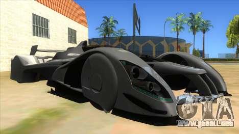 RedBull X2010 para GTA San Andreas vista hacia atrás