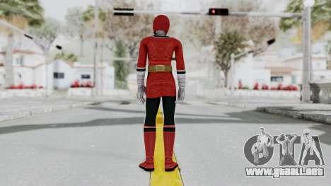 Power Rangers Samurai - Red 2 para GTA San Andreas tercera pantalla