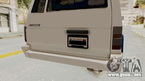 Toyota Kijang Miku Itasha Version para vista inferior GTA San Andreas