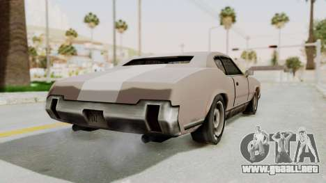 GTA Vice City - Sabre Turbo (Sprayable) para GTA San Andreas left