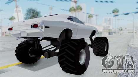 Ford Gran Torino 1972 Monster Truck para la visión correcta GTA San Andreas