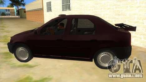 Dacia Logan Sport para GTA San Andreas left