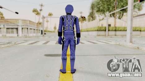 Power Rangers Jungle Fury - Blue para GTA San Andreas tercera pantalla