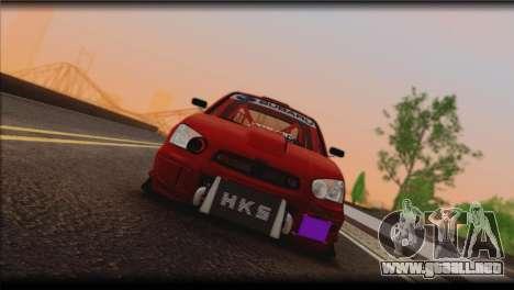 Subaru Impreza STi Drag Racing Unlim 500 para GTA San Andreas left
