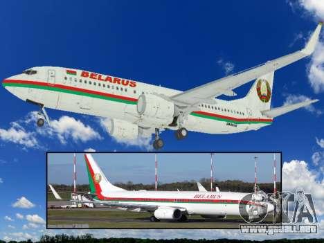 Boeing 737-800BBJ2 EW-001PA para GTA San Andreas left