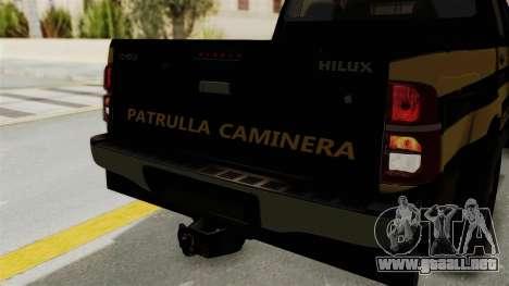 Toyota Hilux 2015 Patrulla Caminera Paraguaya para visión interna GTA San Andreas