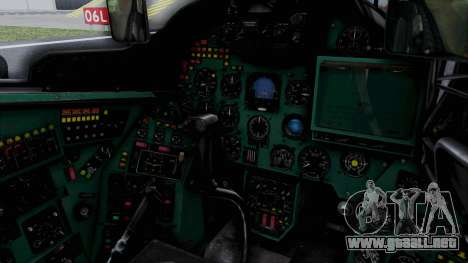 Mi-24V Soviet Air Force 0835 para visión interna GTA San Andreas