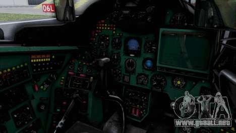 Mi-24V Soviet Air Force 0835 para visión interna GTA San Andreas