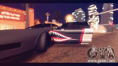 Infernus Shark Edition by ZveR v1 para GTA San Andreas vista hacia atrás