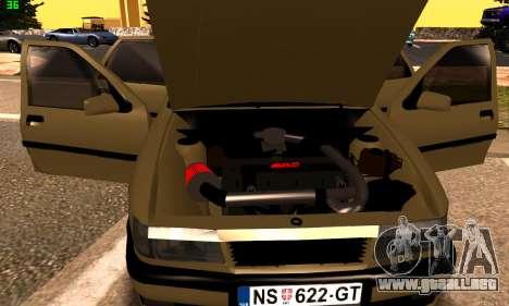 Opel Vectra A para GTA San Andreas vista hacia atrás