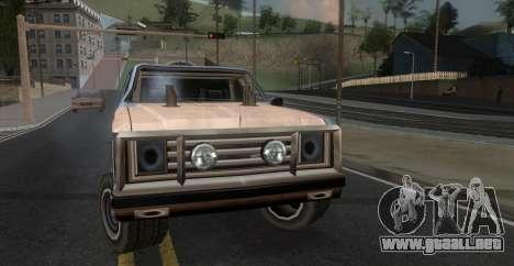 Derby Rancher para GTA San Andreas vista posterior izquierda