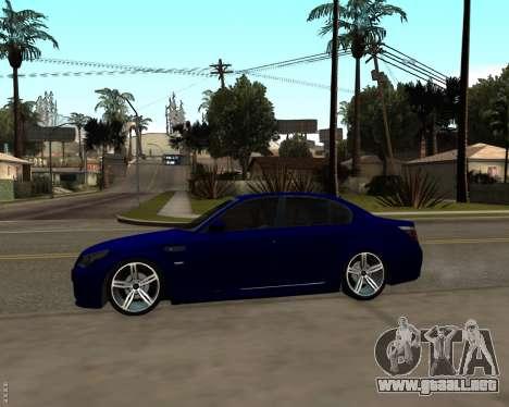 BMW M5 E60 v1.0 para GTA San Andreas vista hacia atrás