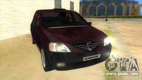 Dacia Logan Sport para GTA San Andreas vista hacia atrás