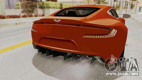 Aston Martin One-77 2010 Autovista Interior para visión interna GTA San Andreas