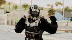 Mass Effect 3 Shepard Ajax Armor with Helmet para GTA San Andreas