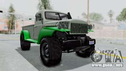 GTA 5 Bravado Duneloader Cleaner IVF para GTA San Andreas