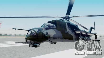 Mi-24V Czech Air Force 7354 para GTA San Andreas