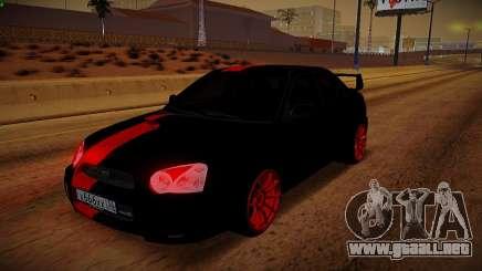 Subaru Impreza WRX STi Bestia Negra para GTA San Andreas