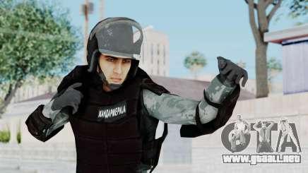 La Gendarmería, Que Antidisturbios De La Piel para GTA San Andreas