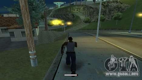 El indicador de funcionamiento de forma rápida para GTA San Andreas segunda pantalla