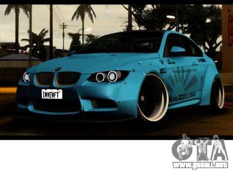 BMW M3 E92 Libertad Pie LB Rendimiento para GTA San Andreas vista hacia atrás