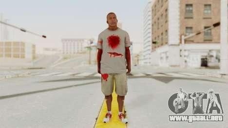 GTA 5 Franklin Zombie Skin para GTA San Andreas segunda pantalla