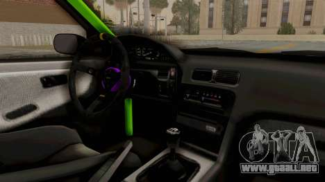 Nissan 240SX Drift Monster Energy Falken para visión interna GTA San Andreas