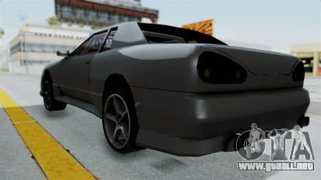 Elegy v2 para GTA San Andreas vista posterior izquierda