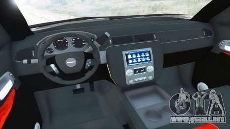 GTA 5 GMC Yukon Denali 2015 vista lateral trasera derecha