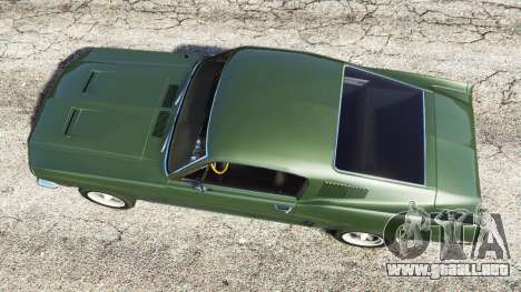 GTA 5 Ford Mustang 1968 vista lateral izquierda trasera