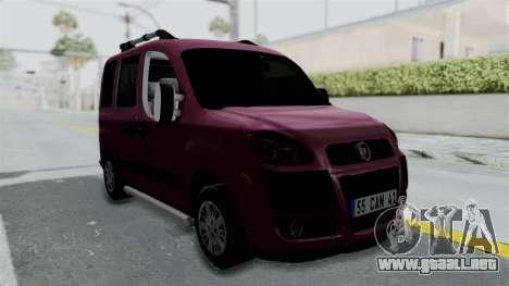 Fiat Doblo para la visión correcta GTA San Andreas
