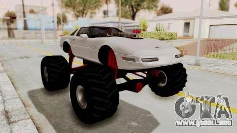 Chevrolet Corvette C4 Monster Truck para GTA San Andreas left
